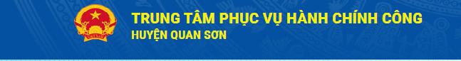 Dịch vụ công trực tuyến huyện Quan Sơn